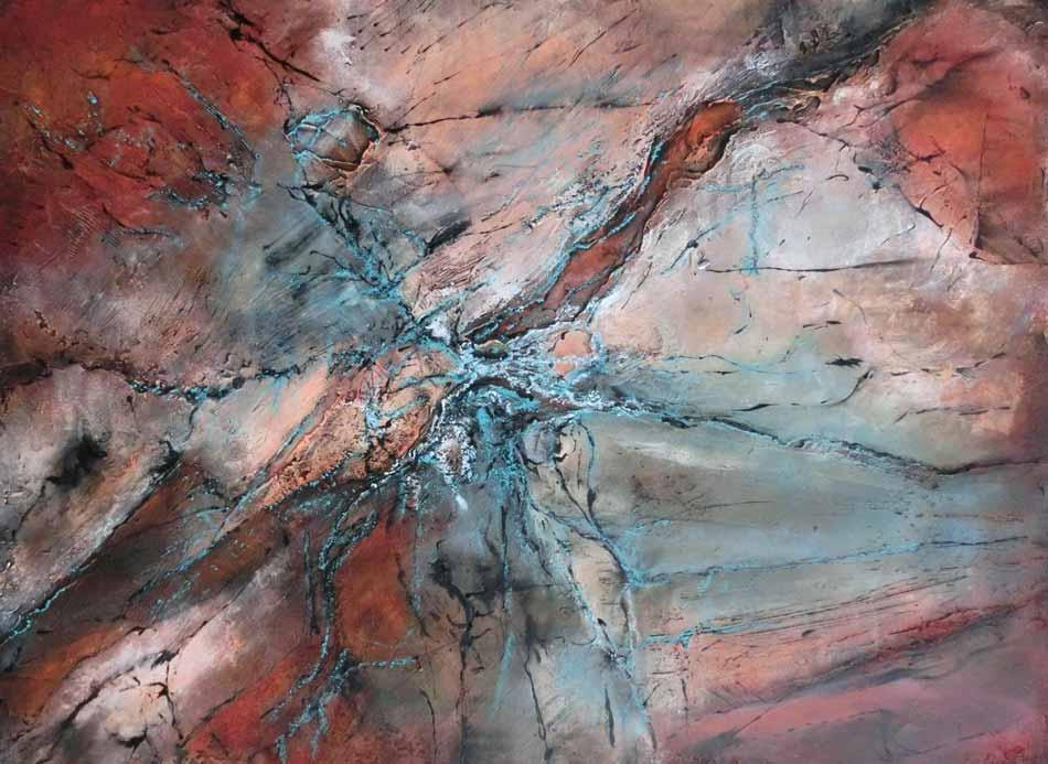 suzette-kunst.nl, rotswand 1, acryl op doek, 60 x 80