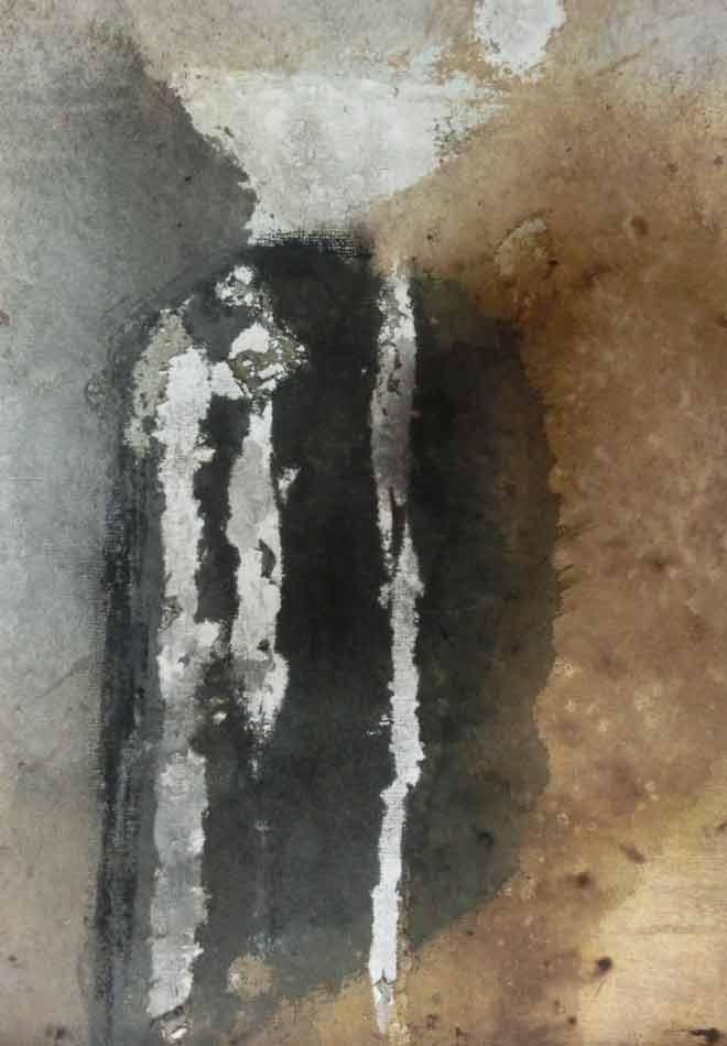 suzette-kunst.nl, zonder titel, tekeninkt, bister en houtskool op papier, 27 x 19