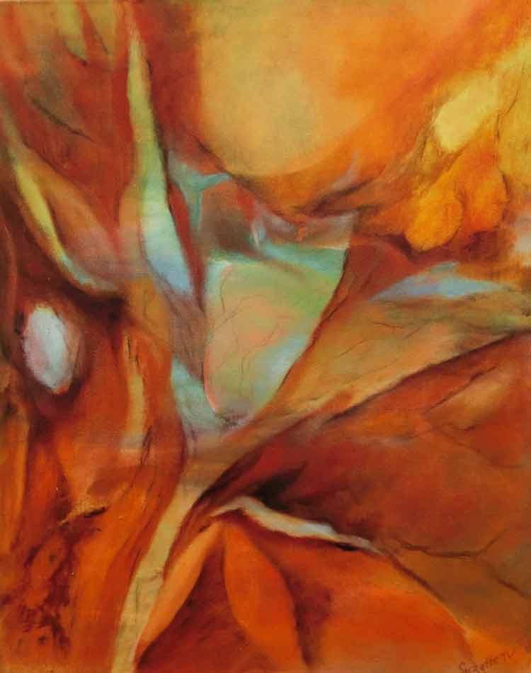 suzette-kunst.nl, herfstspel, olie op doek, 40 x 50