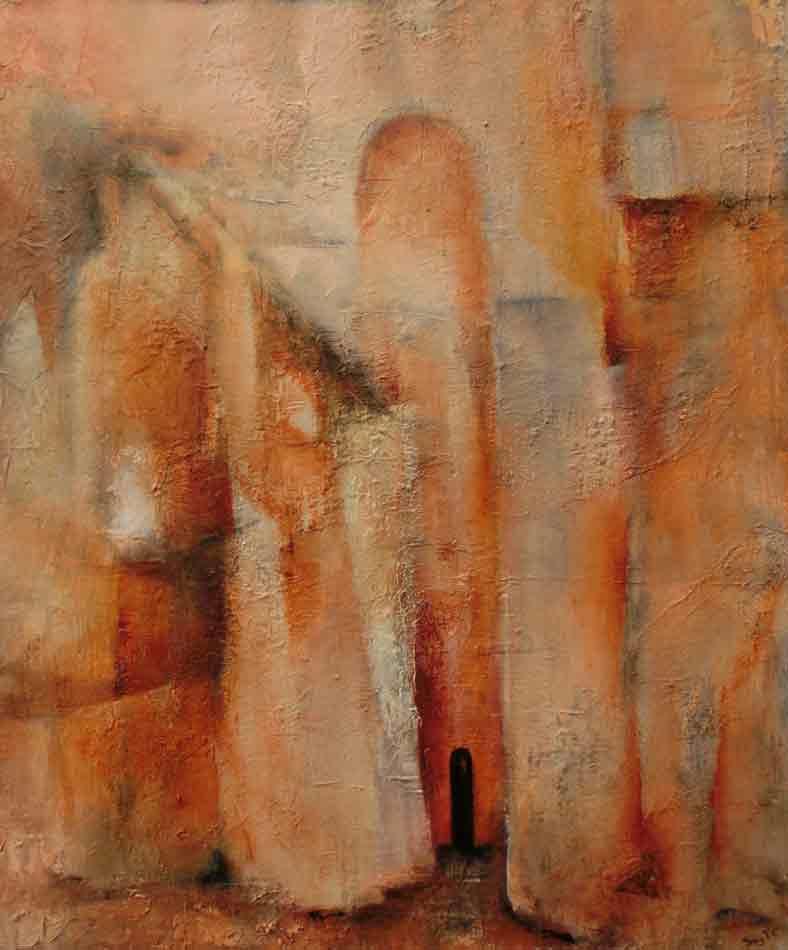 suzette-kunst.nl, bedehuis, acryl op doek, 50 x 60