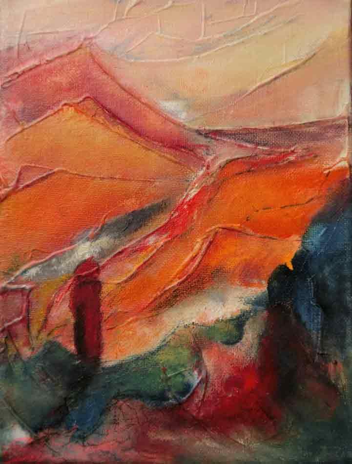 suzette-kunst.nl, landschappelijk, acryl op doek, 30 x 40