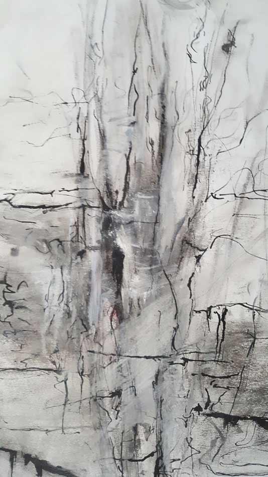 suzette-kunst.nl, detail, inkt en houtskool op papier, 44 x 54