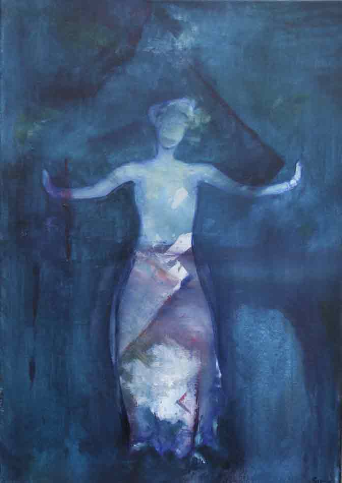 suzette-kunst.nl, oosterse vrouw, acryl op doek, 70 x 50