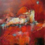 Suzette-Kunst, 'naar huis' maakt deel uit van de serie 'Naar de thuishaven'