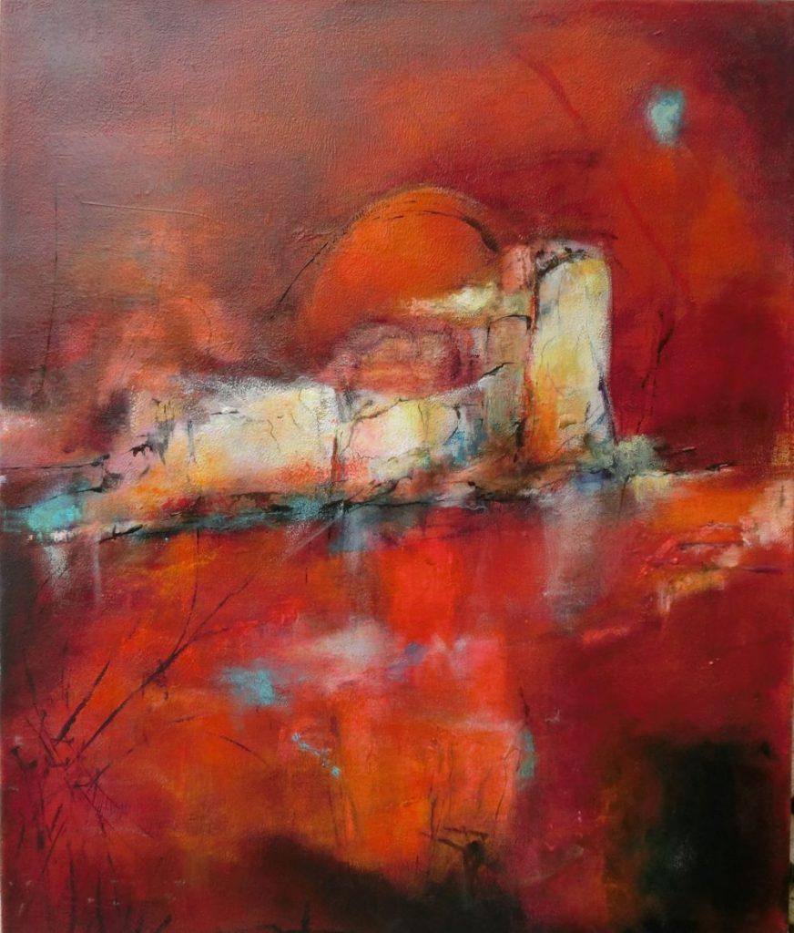 suzette-kunst, 'naar de haven' maakt deel uit van de serie 'Naar de thuishaven'