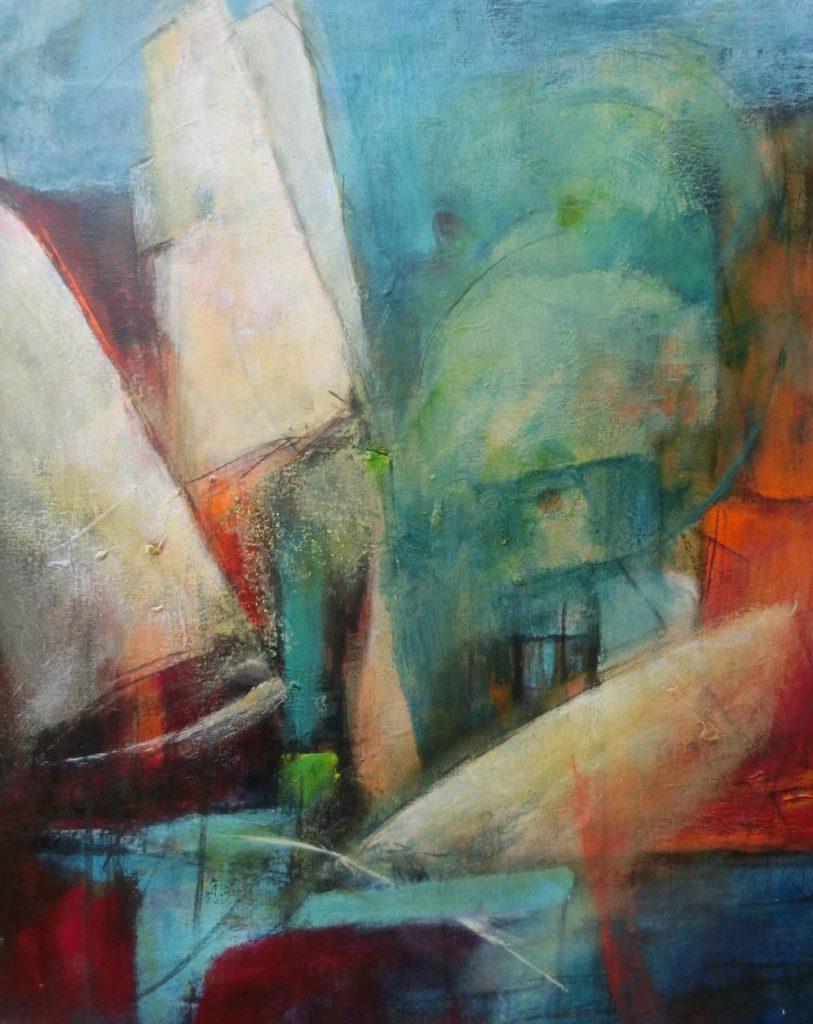 suzette-kunst.nl, in de haven, acryl op doek, 50 x 60