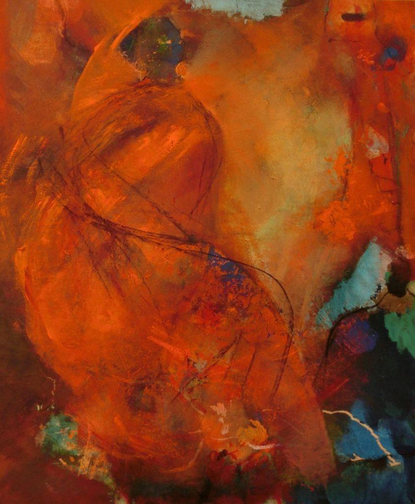 suzette-kunst.nl, dansende vrouw, 50 x 60, acryl op doek