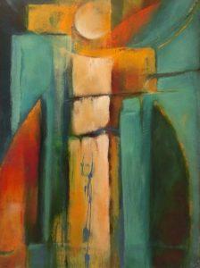 suzette-kunst.nl, engel, acryl op doek, 40 x 50