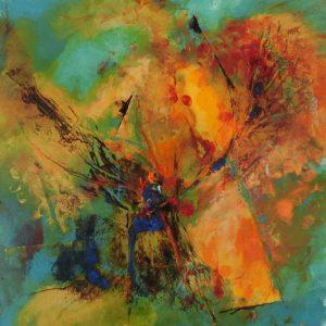 suzette-kunst.nl, kleurklanken 2, acryl op MDF